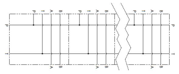 Гидравлическая схема манифольда Oleoweb BM