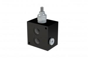 Монтажная алюминевая плита с задними портами под один клапан CETOP3 - BP3