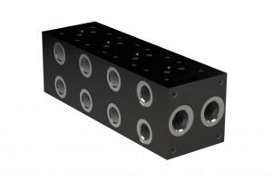 Составная алюминевая монтажная плита без бокового предохранительного клапана - BM