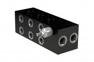 Составная алюминевая монтажная плита с боковым предохранительным клапаном - BM-RV