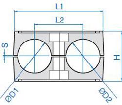схема двойной колодки для гидравлической трубы - промснаб спб
