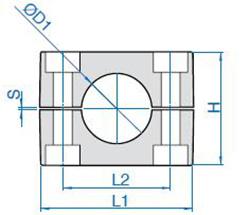 схема одинарной колодки для гидравлической трубы - промснаб спб