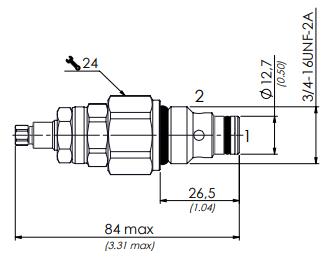 схема дросселя с обратным клапаном VRF6C - промснаб спб