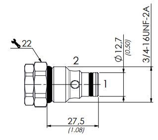 схема обратного клапана CUR6SP1 - промснаб спб