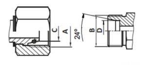 схема фитинга dkol/dkos - промснаб спб