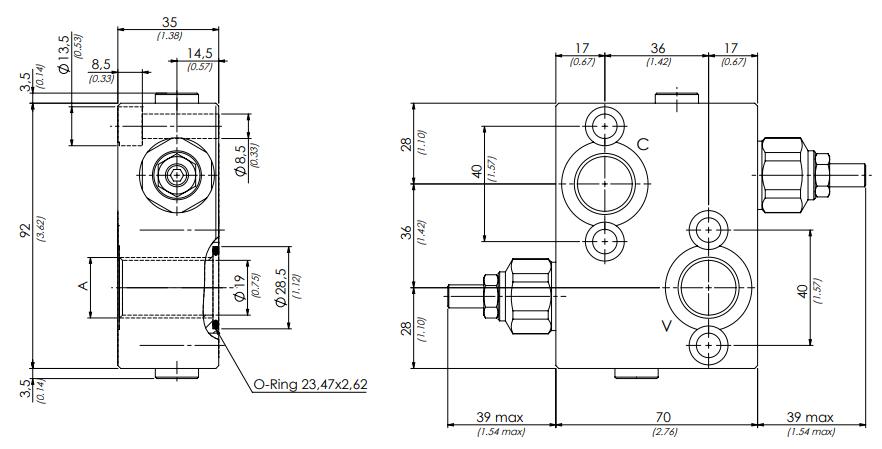 схема гидравлического клапана dcf - промснаб спб
