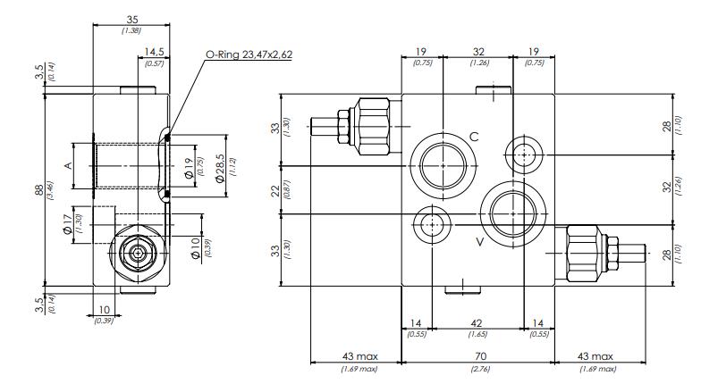 схема гидравлического клапана dcm - промснаб спб