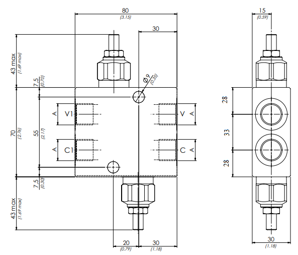 схема гидравлического клапана vbdc - промснаб спб