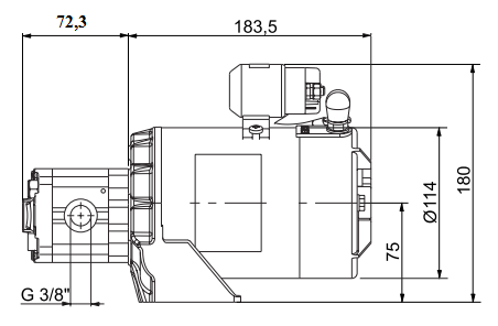 схема насоса brevini EP-ES 3,2-S-P (24 V) - промснаб спб