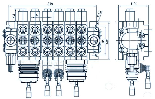 схема гидрораспределителя dcv100-e2 (6pc100) - промснаб спб